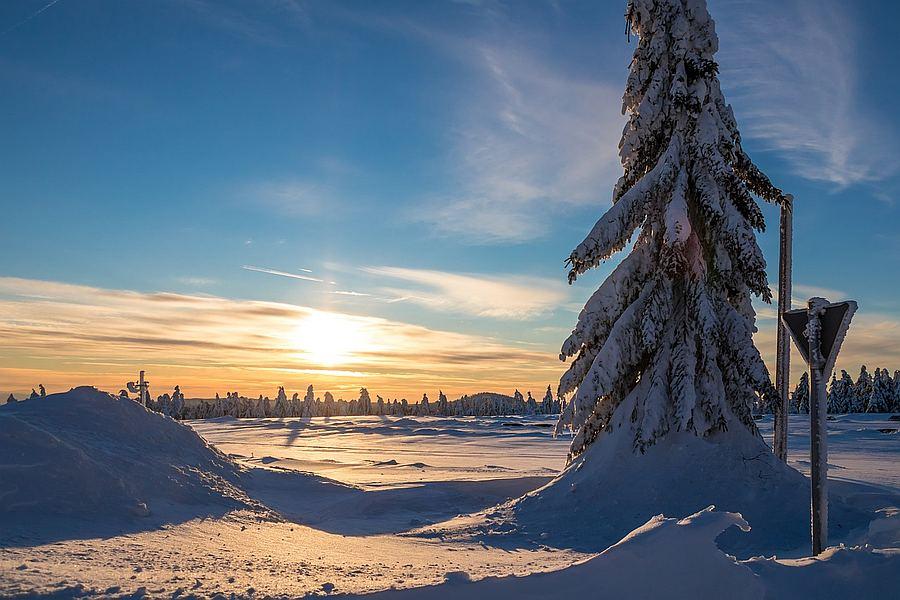 Krušné hory - zimní krajina